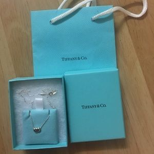 """Authentic Tiffany&co bean necklace 14.5"""""""